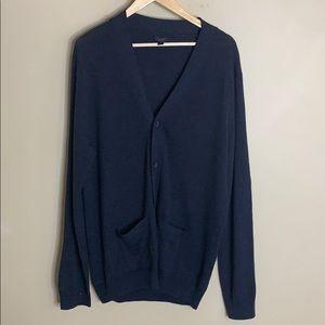 J crew gray merino wool button down cardigan